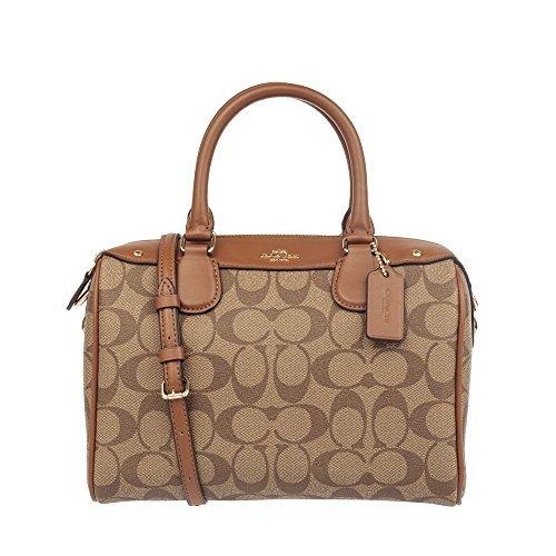 Coach Mini Bennett Satchel Handbag - Khaki/Saddle