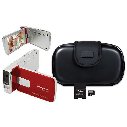 "Polaroid ID1440HD 14.1 MP HD Camcorder Kit with 2.7"" Touch Screen"