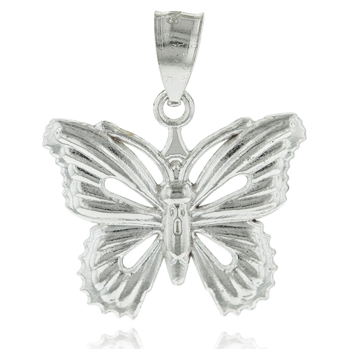 14k Gold Plated Butterfly Pendant