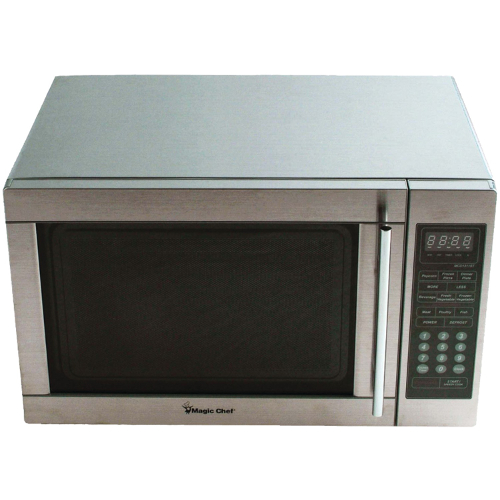 Magic Chef MCPMCD1311ST 13 Cu Ft 1100 Watt Stainless Steel Microwave